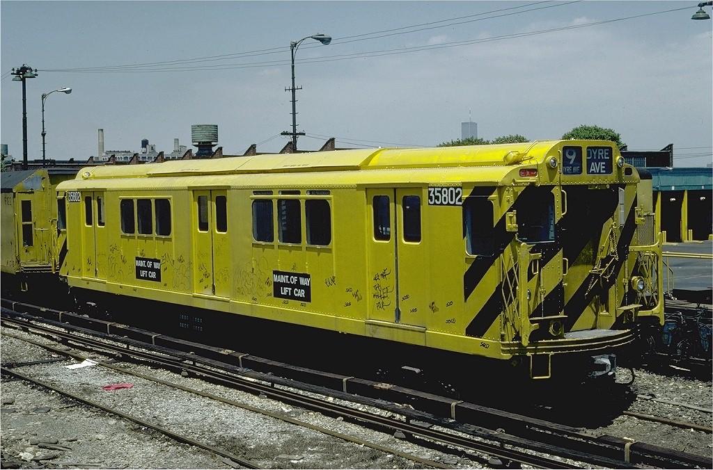 (242k, 1024x676)<br><b>Country:</b> United States<br><b>City:</b> New York<br><b>System:</b> New York City Transit<br><b>Location:</b> 36th Street Yard<br><b>Car:</b> R-12 (American Car & Foundry, 1948) 35802 (ex-5802)<br><b>Photo by:</b> Steve Zabel<br><b>Collection of:</b> Joe Testagrose<br><b>Date:</b> 6/18/1981<br><b>Viewed (this week/total):</b> 3 / 4744