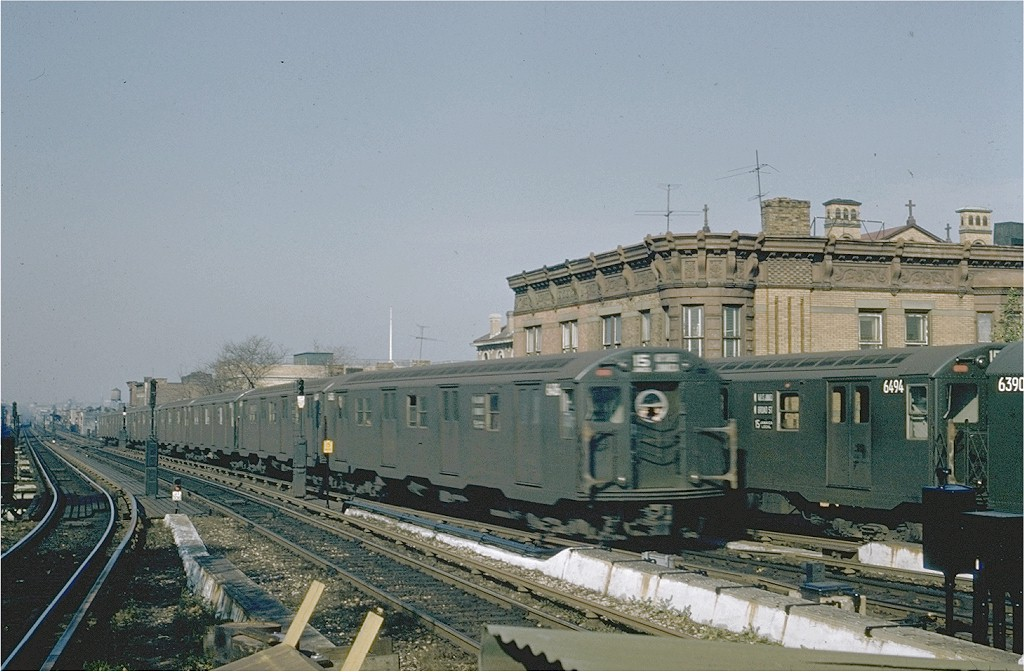 (189k, 1024x672)<br><b>Country:</b> United States<br><b>City:</b> New York<br><b>System:</b> New York City Transit<br><b>Line:</b> BMT Nassau Street/Jamaica Line<br><b>Location:</b> Broadway/East New York (Broadway Junction) <br><b>Route:</b> BMT 15<br><b>Car:</b> R-16 (American Car & Foundry, 1955) 6416 <br><b>Collection of:</b> Joe Testagrose<br><b>Viewed (this week/total):</b> 8 / 5463