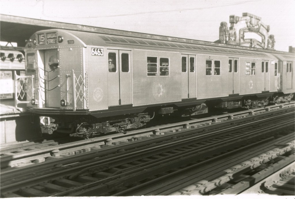 (161k, 1024x691)<br><b>Country:</b> United States<br><b>City:</b> New York<br><b>System:</b> New York City Transit<br><b>Line:</b> BMT Nassau Street/Jamaica Line<br><b>Location:</b> Flushing Avenue <br><b>Route:</b> BMT 15<br><b>Car:</b> R-16 (American Car & Foundry, 1955) 6463 <br><b>Collection of:</b> Joe Testagrose<br><b>Viewed (this week/total):</b> 0 / 4329