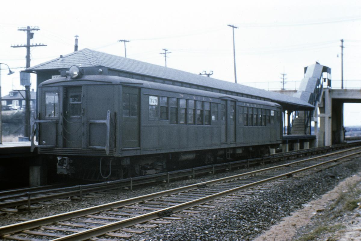 (301k, 1024x683)<br><b>Country:</b> United States<br><b>City:</b> New York<br><b>System:</b> New York City Transit<br><b>Line:</b> SIRT North Shore Line<br><b>Location:</b> Arlington <br><b>Car:</b> SIRT ME-1 (Motor) 329 <br><b>Collection of:</b> David Pirmann<br><b>Date:</b> 3/1953<br><b>Viewed (this week/total):</b> 9 / 1360