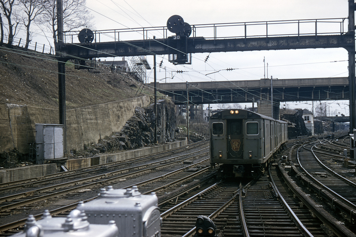(551k, 1024x683)<br><b>Country:</b> United States<br><b>City:</b> Jersey City, NJ<br><b>System:</b> PATH<br><b>Location:</b> Journal Square <br><b>Car:</b> H&M/PATH K-class 1212 <br><b>Photo by:</b> Joel Shanus<br><b>Collection of:</b> David Pirmann<br><b>Date:</b> 4/11/1965<br><b>Viewed (this week/total):</b> 1 / 4995