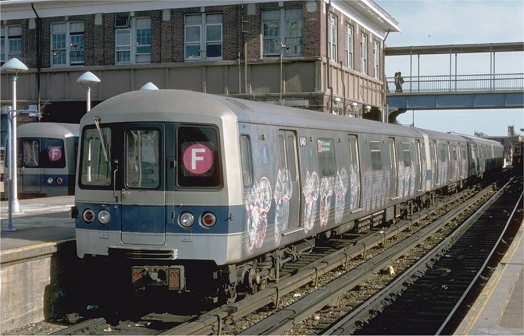 (225k, 1024x657)<br><b>Country:</b> United States<br><b>City:</b> New York<br><b>System:</b> New York City Transit<br><b>Location:</b> Coney Island/Stillwell Avenue<br><b>Route:</b> F<br><b>Car:</b> R-46 (Pullman-Standard, 1974-75) 640 <br><b>Photo by:</b> Ed McKernan<br><b>Collection of:</b> Joe Testagrose<br><b>Date:</b> 5/7/1977<br><b>Viewed (this week/total):</b> 4 / 6033