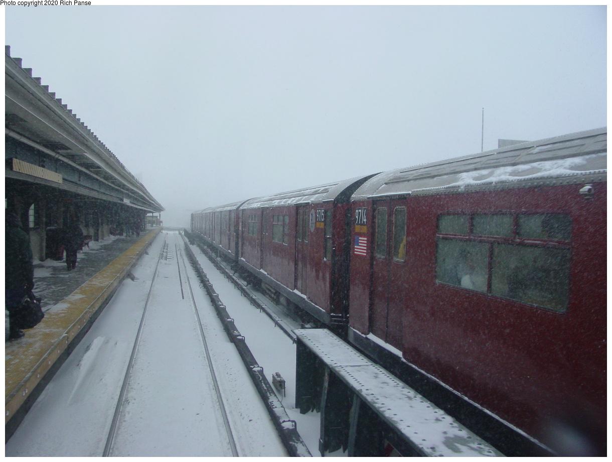 (54k, 820x620)<br><b>Country:</b> United States<br><b>City:</b> New York<br><b>System:</b> New York City Transit<br><b>Line:</b> IRT Flushing Line<br><b>Location:</b> 33rd Street/Rawson Street <br><b>Route:</b> 7<br><b>Car:</b> R-36 World's Fair (St. Louis, 1963-64) 9714-9715 <br><b>Photo by:</b> Richard Panse<br><b>Date:</b> 2/17/2003<br><b>Viewed (this week/total):</b> 1 / 3322