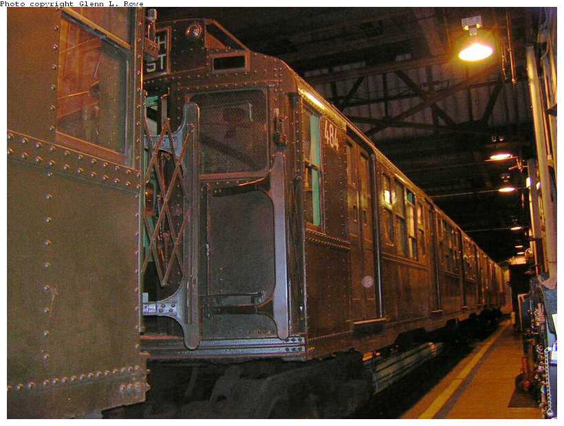 (147k, 820x620)<br><b>Country:</b> United States<br><b>City:</b> New York<br><b>System:</b> New York City Transit<br><b>Location:</b> 207th Street Shop<br><b>Car:</b> R-4 (American Car & Foundry, 1932-1933) 484 <br><b>Photo by:</b> Glenn L. Rowe<br><b>Date:</b> 4/29/2003<br><b>Viewed (this week/total):</b> 0 / 3294