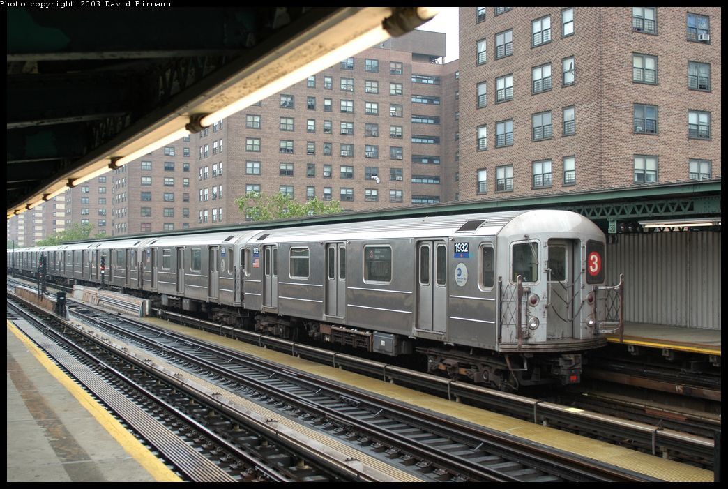 (200k, 1044x701)<br><b>Country:</b> United States<br><b>City:</b> New York<br><b>System:</b> New York City Transit<br><b>Line:</b> IRT Brooklyn Line<br><b>Location:</b> Junius Street <br><b>Car:</b> R-62A (Bombardier, 1984-1987)  1932 <br><b>Photo by:</b> David Pirmann<br><b>Date:</b> 6/7/2003<br><b>Viewed (this week/total):</b> 1 / 5064