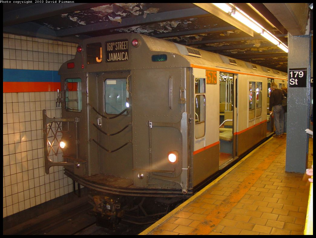 (130k, 1044x788)<br><b>Country:</b> United States<br><b>City:</b> New York<br><b>System:</b> New York City Transit<br><b>Line:</b> IND Queens Boulevard Line<br><b>Location:</b> 179th Street <br><b>Route:</b> Fan Trip<br><b>Car:</b> R-7A (Pullman, 1938)  1575 <br><b>Photo by:</b> David Pirmann<br><b>Date:</b> 6/8/2003<br><b>Viewed (this week/total):</b> 7 / 9932