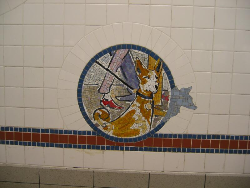 (52k, 800x600)<br><b>Country:</b> United States<br><b>City:</b> New York<br><b>System:</b> New York City Transit<br><b>Line:</b> BMT Broadway Line<br><b>Location:</b> 8th Street <br><b>Photo by:</b> Warren Sze<br><b>Date:</b> 6/13/2003<br><b>Artwork:</b> <i>Broadway Diary</i>, Tim Snell (2002).<br><b>Viewed (this week/total):</b> 0 / 1945