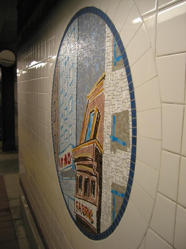 (62k, 600x800)<br><b>Country:</b> United States<br><b>City:</b> New York<br><b>System:</b> New York City Transit<br><b>Line:</b> BMT Broadway Line<br><b>Location:</b> 8th Street <br><b>Photo by:</b> Warren Sze<br><b>Date:</b> 6/13/2003<br><b>Artwork:</b> <i>Broadway Diary</i>, Tim Snell (2002).<br><b>Viewed (this week/total):</b> 1 / 2423