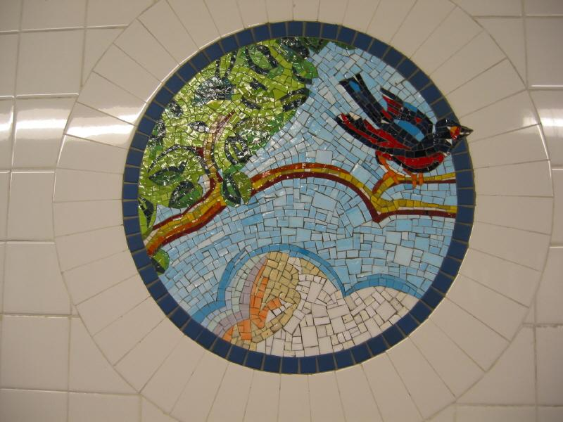 (69k, 800x600)<br><b>Country:</b> United States<br><b>City:</b> New York<br><b>System:</b> New York City Transit<br><b>Line:</b> BMT Broadway Line<br><b>Location:</b> 8th Street <br><b>Photo by:</b> Warren Sze<br><b>Date:</b> 6/13/2003<br><b>Artwork:</b> <i>Broadway Diary</i>, Tim Snell (2002).<br><b>Viewed (this week/total):</b> 0 / 2119