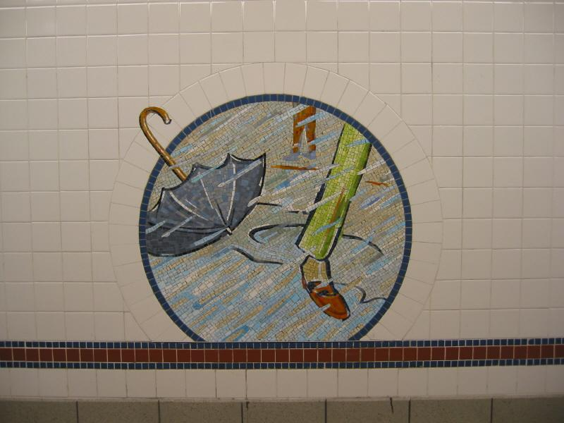 (58k, 800x600)<br><b>Country:</b> United States<br><b>City:</b> New York<br><b>System:</b> New York City Transit<br><b>Line:</b> BMT Broadway Line<br><b>Location:</b> 8th Street <br><b>Photo by:</b> Warren Sze<br><b>Date:</b> 6/13/2003<br><b>Artwork:</b> <i>Broadway Diary</i>, Tim Snell (2002).<br><b>Viewed (this week/total):</b> 0 / 1679