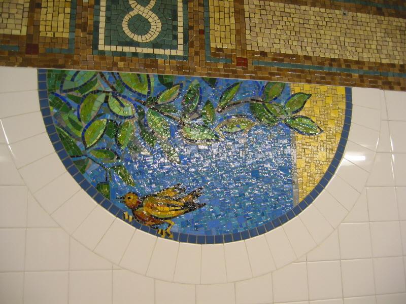 (87k, 800x600)<br><b>Country:</b> United States<br><b>City:</b> New York<br><b>System:</b> New York City Transit<br><b>Line:</b> BMT Broadway Line<br><b>Location:</b> 8th Street <br><b>Photo by:</b> Warren Sze<br><b>Date:</b> 6/13/2003<br><b>Artwork:</b> <i>Broadway Diary</i>, Tim Snell (2002).<br><b>Viewed (this week/total):</b> 0 / 1705