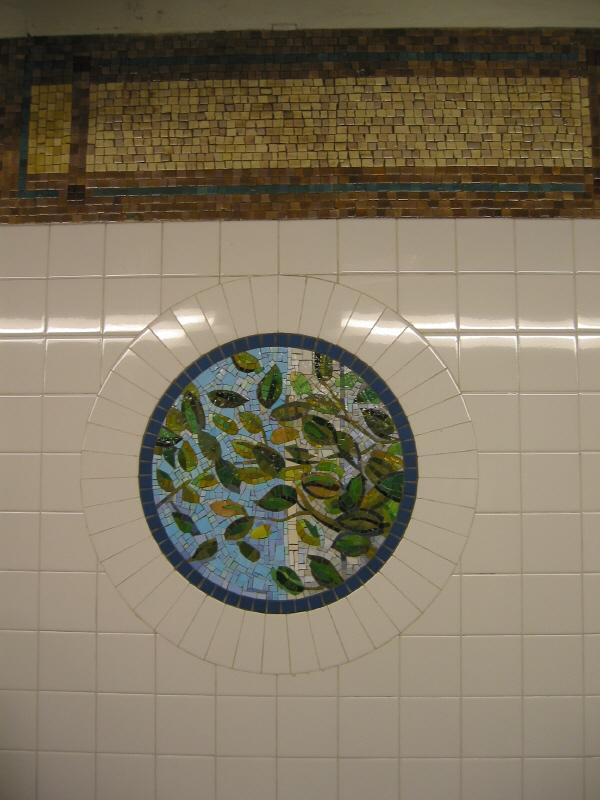 (55k, 600x800)<br><b>Country:</b> United States<br><b>City:</b> New York<br><b>System:</b> New York City Transit<br><b>Line:</b> BMT Broadway Line<br><b>Location:</b> 8th Street <br><b>Photo by:</b> Warren Sze<br><b>Date:</b> 6/13/2003<br><b>Artwork:</b> <i>Broadway Diary</i>, Tim Snell (2002).<br><b>Viewed (this week/total):</b> 0 / 2340