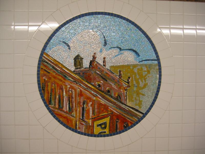 (62k, 800x600)<br><b>Country:</b> United States<br><b>City:</b> New York<br><b>System:</b> New York City Transit<br><b>Line:</b> BMT Broadway Line<br><b>Location:</b> 8th Street <br><b>Photo by:</b> Warren Sze<br><b>Date:</b> 6/13/2003<br><b>Artwork:</b> <i>Broadway Diary</i>, Tim Snell (2002).<br><b>Viewed (this week/total):</b> 0 / 2367