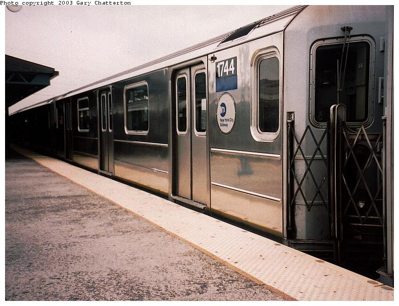 (94k, 790x606)<br><b>Country:</b> United States<br><b>City:</b> New York<br><b>System:</b> New York City Transit<br><b>Line:</b> IRT Flushing Line<br><b>Location:</b> 61st Street/Woodside <br><b>Route:</b> 7<br><b>Car:</b> R-62A (Bombardier, 1984-1987)  1744 <br><b>Photo by:</b> Gary Chatterton<br><b>Date:</b> 5/24/2003<br><b>Viewed (this week/total):</b> 0 / 3218