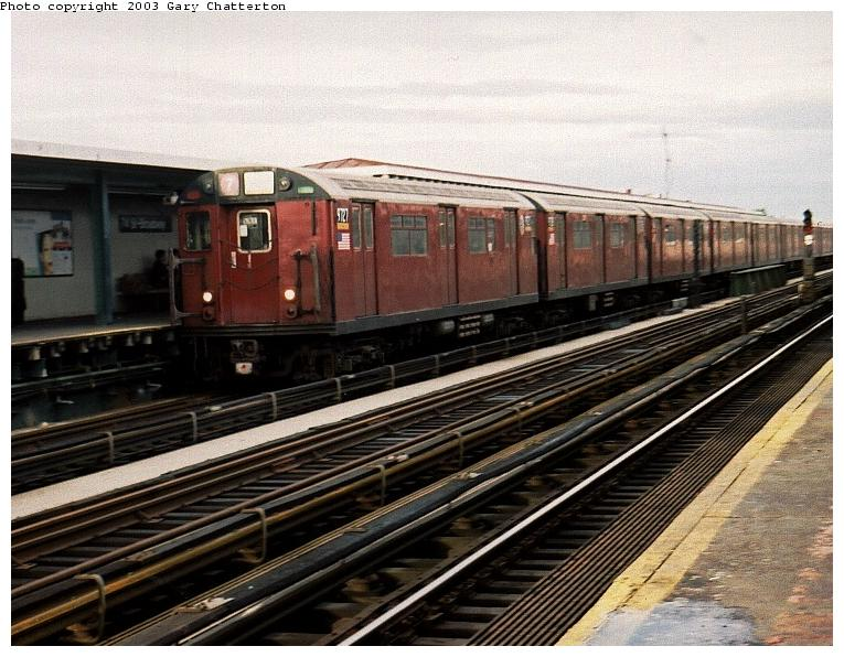 (87k, 765x596)<br><b>Country:</b> United States<br><b>City:</b> New York<br><b>System:</b> New York City Transit<br><b>Line:</b> IRT Flushing Line<br><b>Location:</b> 74th Street/Broadway <br><b>Route:</b> 7<br><b>Car:</b> R-36 World's Fair (St. Louis, 1963-64) 9727 <br><b>Photo by:</b> Gary Chatterton<br><b>Date:</b> 6/1/2003<br><b>Viewed (this week/total):</b> 1 / 3537