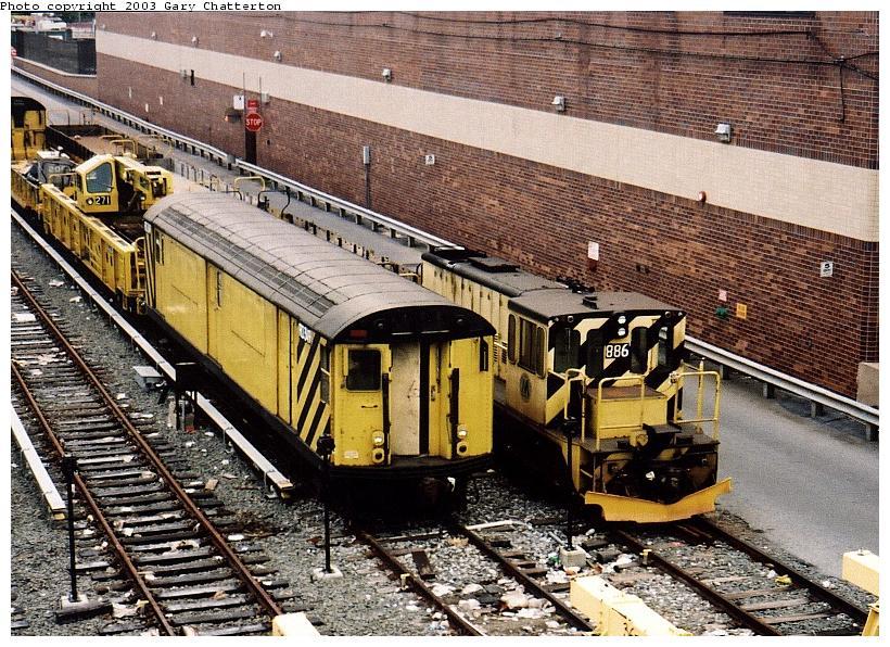 (143k, 820x596)<br><b>Country:</b> United States<br><b>City:</b> New York<br><b>System:</b> New York City Transit<br><b>Location:</b> Corona Yard<br><b>Car:</b> R-71 Rider Car (R-17/R-21/R-22 Rebuilds)  RD349 <br><b>Photo by:</b> Gary Chatterton<br><b>Date:</b> 6/17/2003<br><b>Viewed (this week/total):</b> 4 / 2593