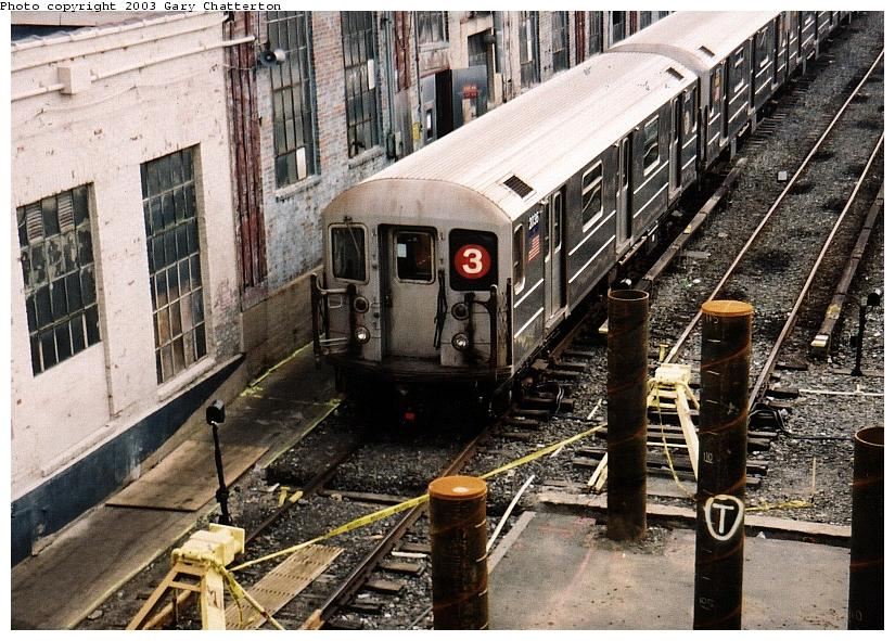 (123k, 825x591)<br><b>Country:</b> United States<br><b>City:</b> New York<br><b>System:</b> New York City Transit<br><b>Location:</b> Corona Yard<br><b>Car:</b> R-62A (Bombardier, 1984-1987)  2036 <br><b>Photo by:</b> Gary Chatterton<br><b>Date:</b> 6/18/2003<br><b>Viewed (this week/total):</b> 2 / 5011