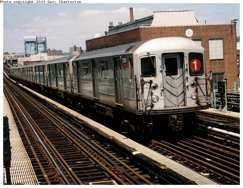 (107k, 775x601)<br><b>Country:</b> United States<br><b>City:</b> New York<br><b>System:</b> New York City Transit<br><b>Line:</b> IRT West Side Line<br><b>Location:</b> 207th Street <br><b>Route:</b> 1<br><b>Car:</b> R-62A (Bombardier, 1984-1987)  2305 <br><b>Photo by:</b> Gary Chatterton<br><b>Date:</b> 6/6/2003<br><b>Viewed (this week/total):</b> 1 / 3893