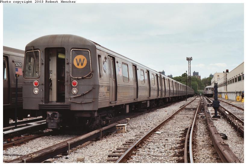 (98k, 820x553)<br><b>Country:</b> United States<br><b>City:</b> New York<br><b>System:</b> New York City Transit<br><b>Location:</b> Coney Island Yard<br><b>Car:</b> R-68A (Kawasaki, 1988-1989)  5028 <br><b>Photo by:</b> Robert Mencher<br><b>Date:</b> 6/2003<br><b>Viewed (this week/total):</b> 0 / 4514