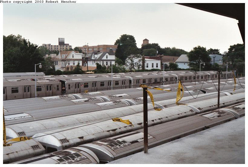 (99k, 820x553)<br><b>Country:</b> United States<br><b>City:</b> New York<br><b>System:</b> New York City Transit<br><b>Location:</b> Rockaway Parkway (Canarsie) Yard<br><b>Car:</b> R-143 (Kawasaki, 2001-2002) 8141 <br><b>Photo by:</b> Robert Mencher<br><b>Date:</b> 6/2003<br><b>Viewed (this week/total):</b> 0 / 5568