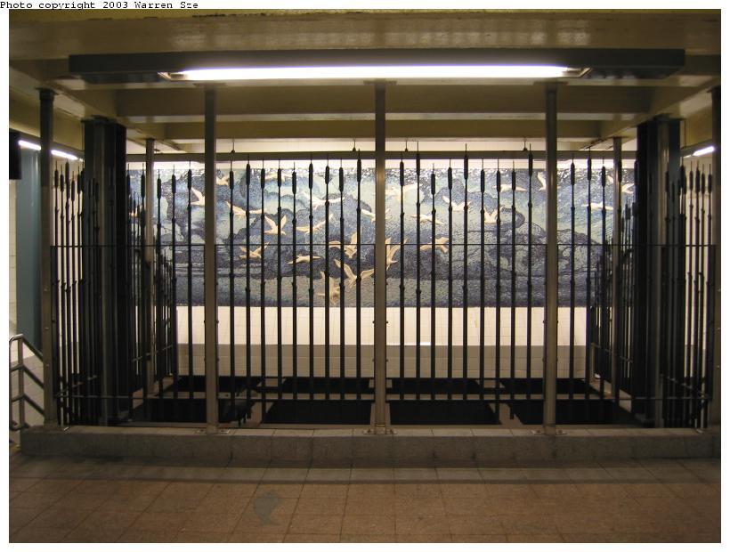 (81k, 820x620)<br><b>Country:</b> United States<br><b>City:</b> New York<br><b>System:</b> New York City Transit<br><b>Line:</b> BMT Broadway Line<br><b>Location:</b> Whitehall Street <br><b>Photo by:</b> Warren Sze<br><b>Date:</b> 7/3/2003<br><b>Artwork:</b> <i>Passages</i>, Frank Giorgini (2000).<br><b>Notes:</b> South exit<br><b>Viewed (this week/total):</b> 1 / 3278