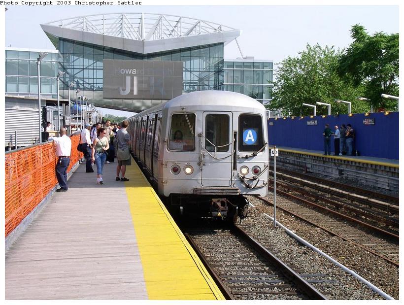 (113k, 820x619)<br><b>Country:</b> United States<br><b>City:</b> New York<br><b>System:</b> New York City Transit<br><b>Line:</b> IND Rockaway<br><b>Location:</b> Howard Beach <br><b>Car:</b> R-44 (St. Louis, 1971-73)  <br><b>Photo by:</b> Christopher Sattler<br><b>Date:</b> 6/28/2003<br><b>Viewed (this week/total):</b> 5 / 7392