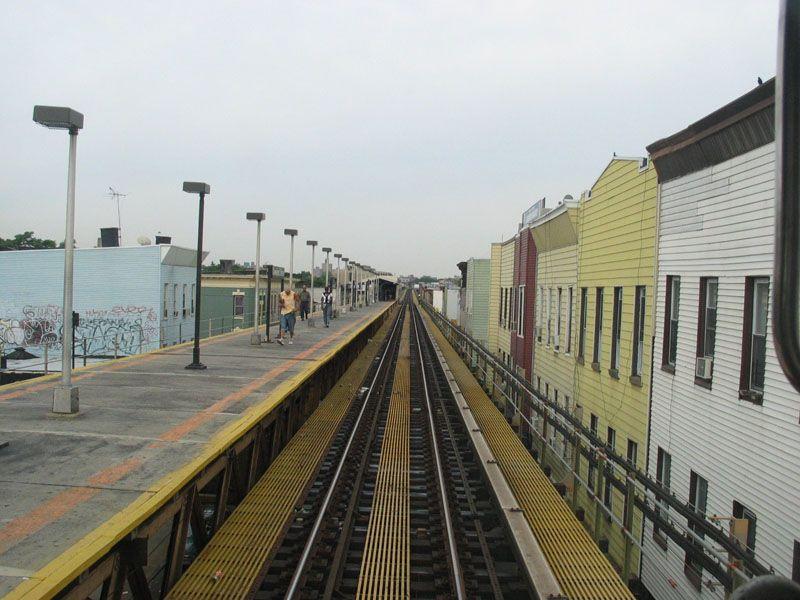 (100k, 800x600)<br><b>Country:</b> United States<br><b>City:</b> New York<br><b>System:</b> New York City Transit<br><b>Line:</b> BMT Nassau Street/Jamaica Line<br><b>Location:</b> Cleveland Street <br><b>Photo by:</b> Robert Pastore<br><b>Date:</b> 4/27/2003<br><b>Viewed (this week/total):</b> 4 / 3181