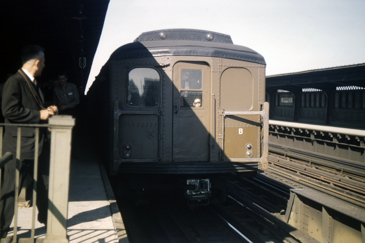 (334k, 1044x723)<br><b>Country:</b> United States<br><b>City:</b> New York<br><b>System:</b> New York City Transit<br><b>Line:</b> BMT Culver Line<br><b>Location:</b> Avenue P <br><b>Route:</b> Fan Trip<br><b>Car:</b> BMT A/B-Type Standard 2390/2391/2392 <br><b>Collection of:</b> David Pirmann<br><b>Date:</b> 10/16/1965<br><b>Viewed (this week/total):</b> 3 / 2981
