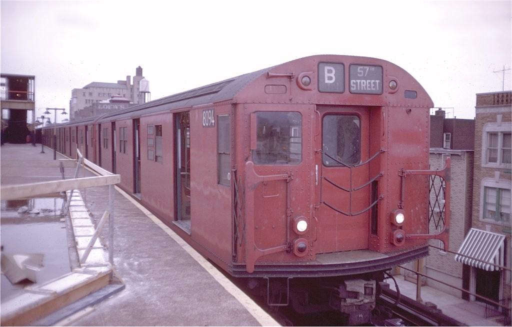 (154k, 1024x654)<br><b>Country:</b> United States<br><b>City:</b> New York<br><b>System:</b> New York City Transit<br><b>Location:</b> Coney Island/Stillwell Avenue<br><b>Route:</b> B<br><b>Car:</b> R-27 (St. Louis, 1960)  8094 <br><b>Photo by:</b> Doug Grotjahn<br><b>Collection of:</b> Joe Testagrose<br><b>Date:</b> 4/19/1969<br><b>Viewed (this week/total):</b> 4 / 3318