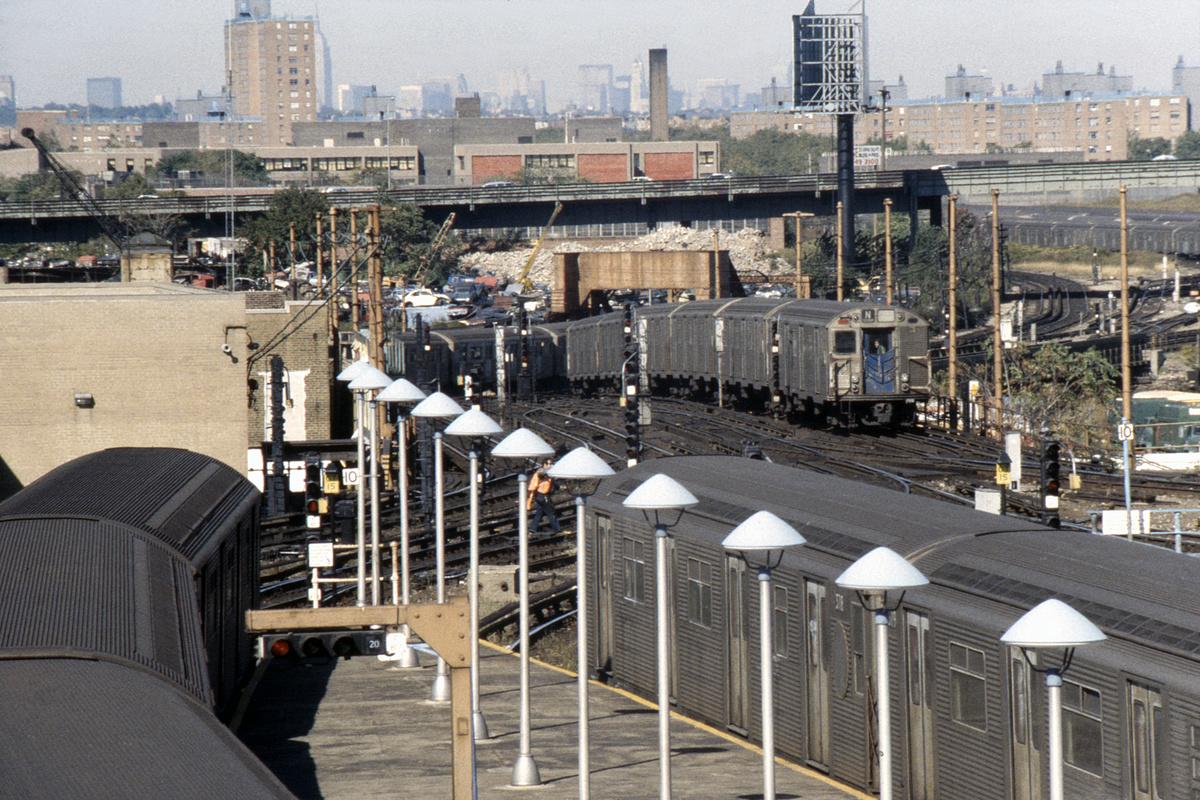 (616k, 1024x682)<br><b>Country:</b> United States<br><b>City:</b> New York<br><b>System:</b> New York City Transit<br><b>Location:</b> Coney Island/Stillwell Avenue<br><b>Car:</b> R-32 (Budd, 1964)  3718 <br><b>Photo by:</b> Steve Hoskins<br><b>Collection of:</b> David Pirmann<br><b>Date:</b> 10/1980<br><b>Viewed (this week/total):</b> 0 / 6423