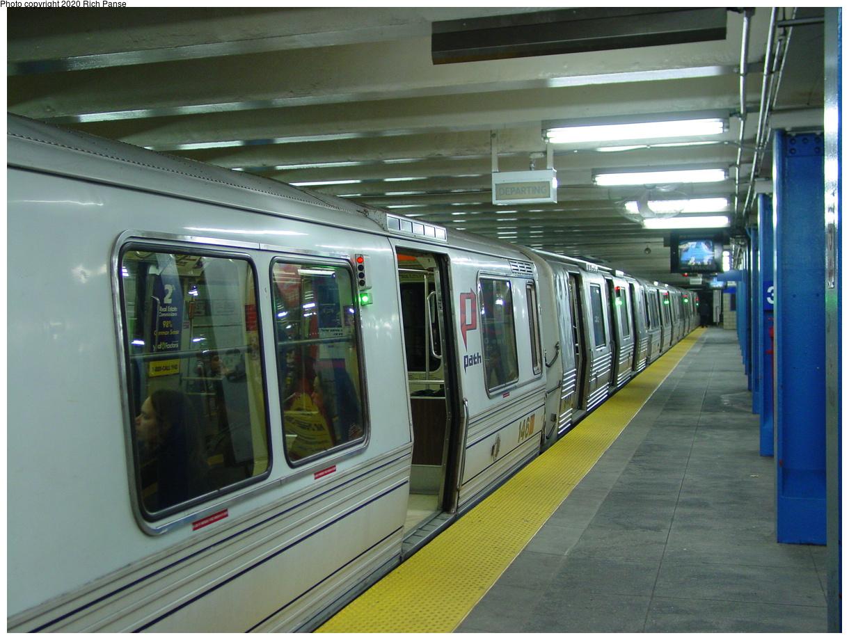 (80k, 820x620)<br><b>Country:</b> United States<br><b>City:</b> New York<br><b>System:</b> PATH<br><b>Location:</b> 33rd Street <br><b>Car:</b> PATH PA-1 (St. Louis Car, 1965)  146 <br><b>Photo by:</b> Richard Panse<br><b>Date:</b> 2/23/2002<br><b>Viewed (this week/total):</b> 0 / 5168