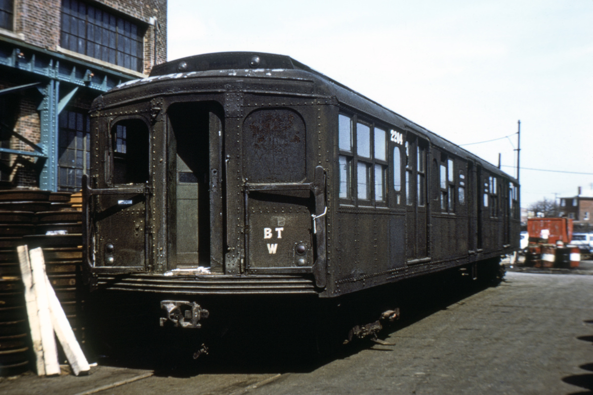 (227k, 1024x695)<br><b>Country:</b> United States<br><b>City:</b> New York<br><b>System:</b> New York City Transit<br><b>Location:</b> Coney Island Yard<br><b>Car:</b> BMT A/B-Type Standard 2204 <br><b>Photo by:</b> Joe Testagrose<br><b>Date:</b> 4/13/1971<br><b>Viewed (this week/total):</b> 7 / 4867