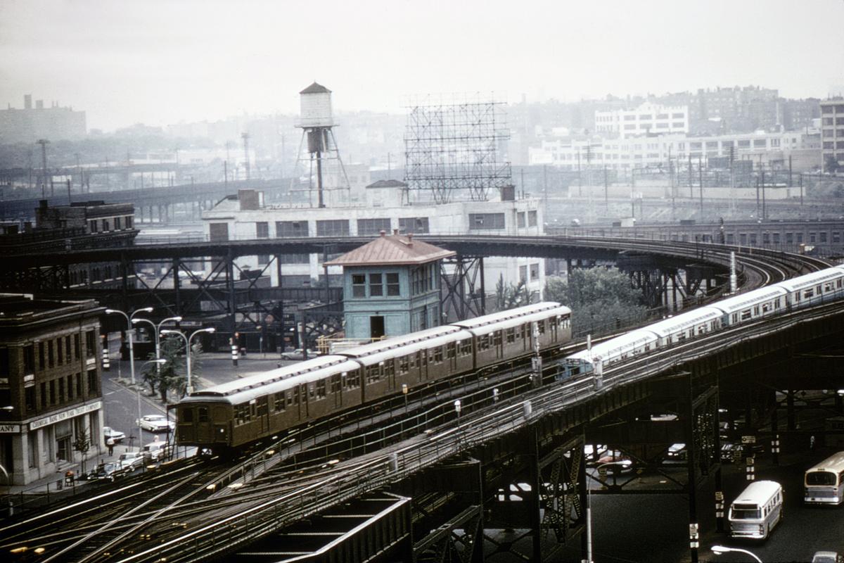 (409k, 1024x682)<br><b>Country:</b> United States<br><b>City:</b> New York<br><b>System:</b> New York City Transit<br><b>Line:</b> BMT Astoria Line<br><b>Location:</b> Queensborough Plaza <br><b>Route:</b> Fan Trip<br><b>Car:</b> BMT A/B-Type Standard 2390/2391/2392 <br><b>Photo by:</b> Gerald H. Landau<br><b>Collection of:</b> David Pirmann<br><b>Date:</b> 7/22/1965<br><b>Viewed (this week/total):</b> 4 / 6629