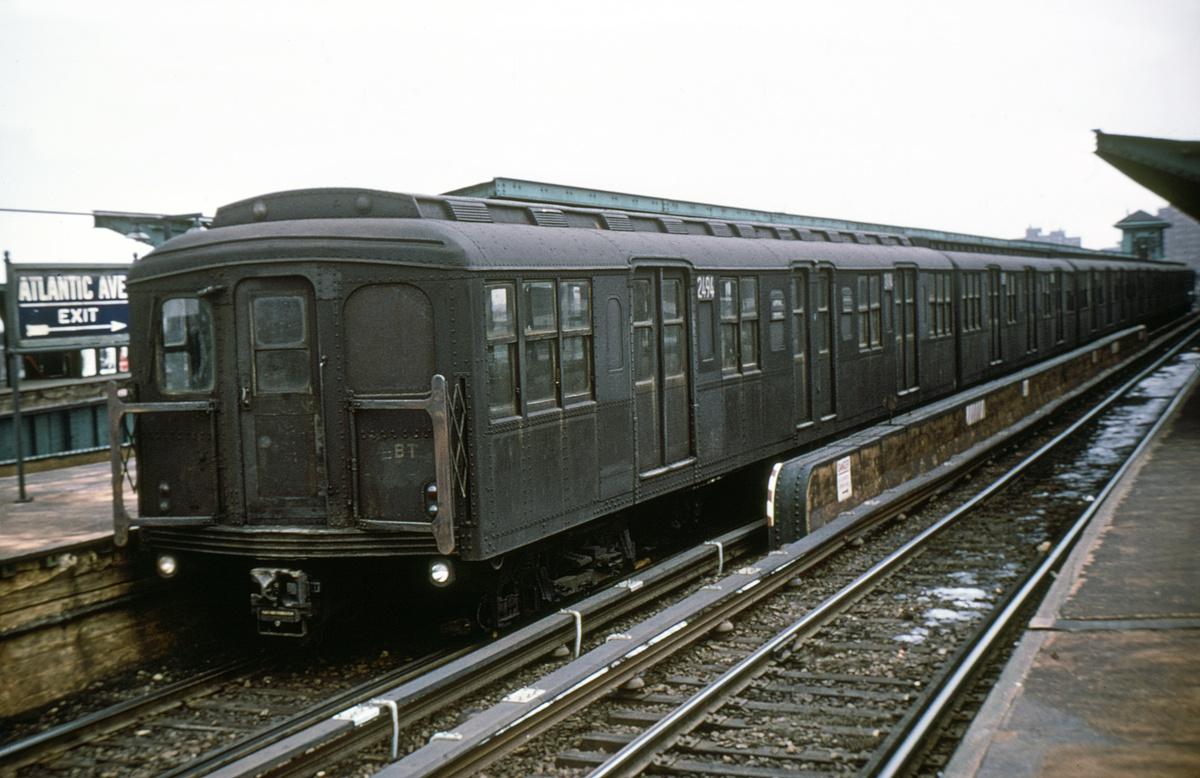 (308k, 1024x683)<br><b>Country:</b> United States<br><b>City:</b> New York<br><b>System:</b> New York City Transit<br><b>Line:</b> BMT Canarsie Line<br><b>Location:</b> Atlantic Avenue <br><b>Car:</b> BMT A/B-Type Standard 2494 <br><b>Collection of:</b> David Pirmann<br><b>Viewed (this week/total):</b> 0 / 2919