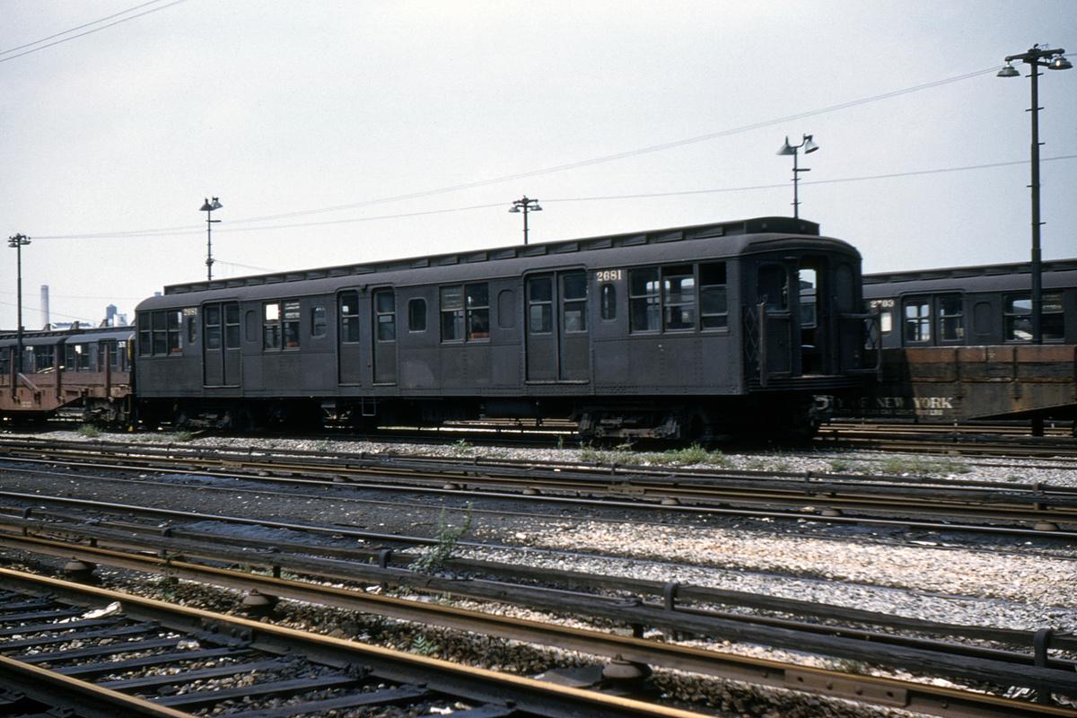 (403k, 1044x710)<br><b>Country:</b> United States<br><b>City:</b> New York<br><b>System:</b> New York City Transit<br><b>Location:</b> 36th Street Yard<br><b>Car:</b> BMT A/B-Type Standard 2681 <br><b>Collection of:</b> David Pirmann<br><b>Date:</b> 8/20/1960<br><b>Viewed (this week/total):</b> 0 / 2747
