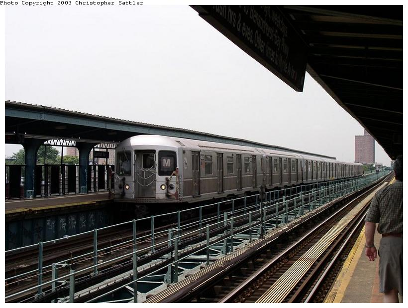 (84k, 820x618)<br><b>Country:</b> United States<br><b>City:</b> New York<br><b>System:</b> New York City Transit<br><b>Line:</b> BMT Myrtle Avenue Line<br><b>Location:</b> Central Avenue <br><b>Route:</b> J<br><b>Car:</b> R-40M (St. Louis, 1969)  4533 <br><b>Photo by:</b> Christopher Sattler<br><b>Date:</b> 7/31/2003<br><b>Viewed (this week/total):</b> 2 / 4346