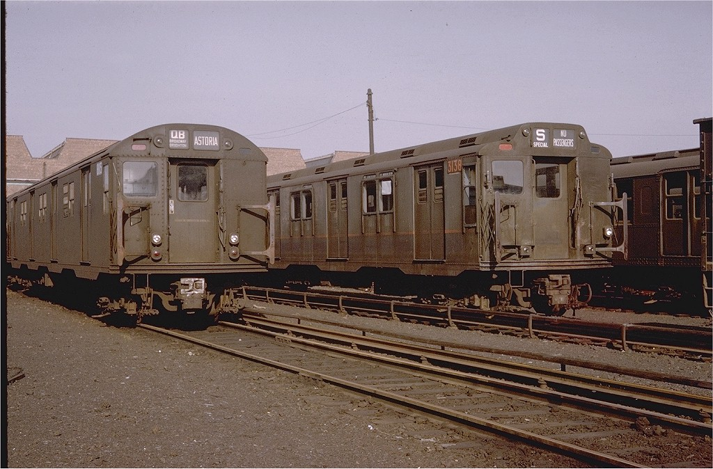 (229k, 1024x674)<br><b>Country:</b> United States<br><b>City:</b> New York<br><b>System:</b> New York City Transit<br><b>Location:</b> Coney Island Yard<br><b>Car:</b> R-27 (St. Louis, 1960)  8115 <br><b>Photo by:</b> Joel Shanus<br><b>Collection of:</b> Joe Testagrose<br><b>Date:</b> 1/15/1966<br><b>Notes:</b> With R10 3138<br><b>Viewed (this week/total):</b> 0 / 4321