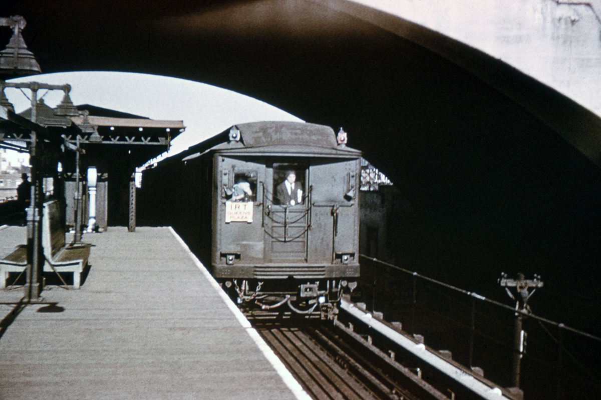 (348k, 1024x683)<br><b>Country:</b> United States<br><b>City:</b> New York<br><b>System:</b> New York City Transit<br><b>Line:</b> BMT Astoria Line<br><b>Location:</b> Ditmars Boulevard <br><b>Car:</b> BMT Q  <br><b>Collection of:</b> David Pirmann<br><b>Viewed (this week/total):</b> 2 / 4177