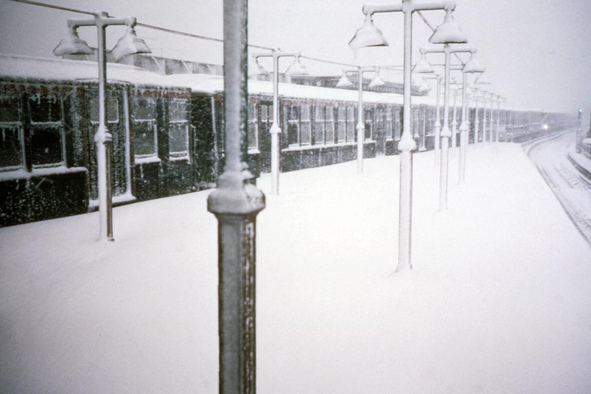 (316k, 1024x683)<br><b>Country:</b> United States<br><b>City:</b> New York<br><b>System:</b> New York City Transit<br><b>Line:</b> BMT Myrtle Avenue Line<br><b>Location:</b> Fresh Pond Road <br><b>Car:</b> BMT Q  <br><b>Collection of:</b> David Pirmann<br><b>Date:</b> 2/9/1969<br><b>Viewed (this week/total):</b> 3 / 7185