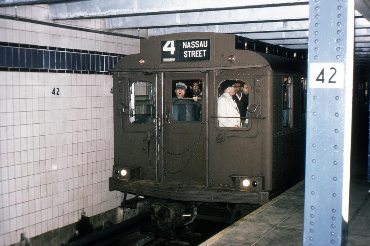 (329k, 1024x682)<br><b>Country:</b> United States<br><b>City:</b> New York<br><b>System:</b> New York City Transit<br><b>Line:</b> IND 8th Avenue Line<br><b>Location:</b> 42nd Street/Port Authority Bus Terminal (Lower Level) <br><b>Route:</b> Fan Trip<br><b>Car:</b> BMT D-Type Triplex  <br><b>Collection of:</b> David Pirmann<br><b>Viewed (this week/total):</b> 5 / 14344