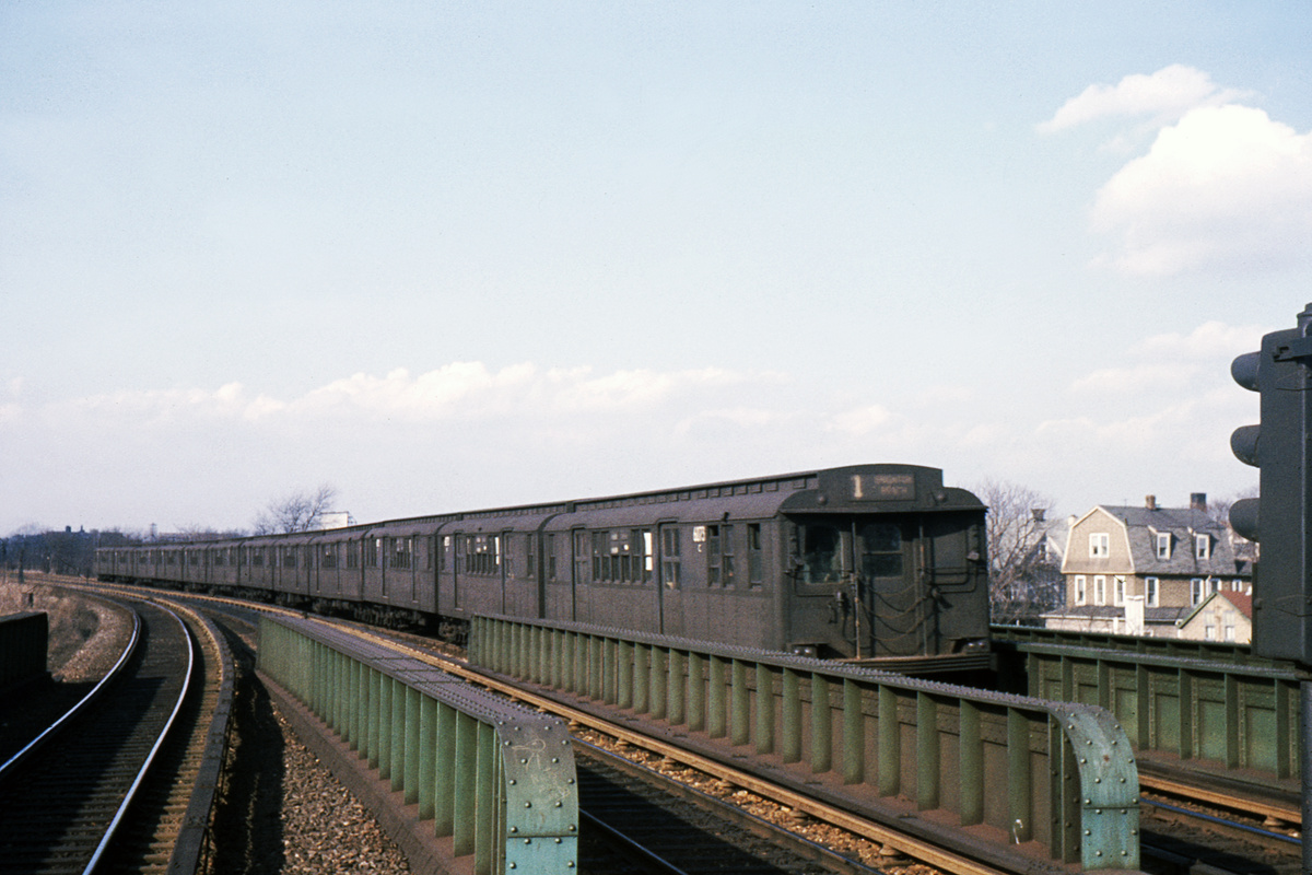 (354k, 1024x683)<br><b>Country:</b> United States<br><b>City:</b> New York<br><b>System:</b> New York City Transit<br><b>Line:</b> BMT Brighton Line<br><b>Location:</b> Sheepshead Bay <br><b>Car:</b> BMT D-Type Triplex 6073 <br><b>Collection of:</b> David Pirmann<br><b>Date:</b> 3/8/1963<br><b>Viewed (this week/total):</b> 1 / 3896