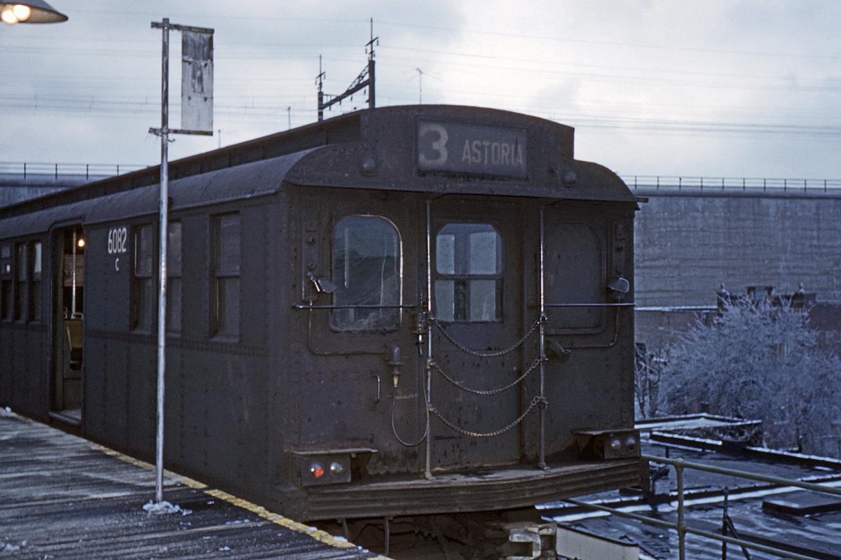 (304k, 1044x707)<br><b>Country:</b> United States<br><b>City:</b> New York<br><b>System:</b> New York City Transit<br><b>Line:</b> BMT Astoria Line<br><b>Location:</b> Ditmars Boulevard <br><b>Car:</b> BMT D-Type Triplex 6082 <br><b>Collection of:</b> David Pirmann<br><b>Date:</b> 3/2/1963<br><b>Viewed (this week/total):</b> 1 / 3622