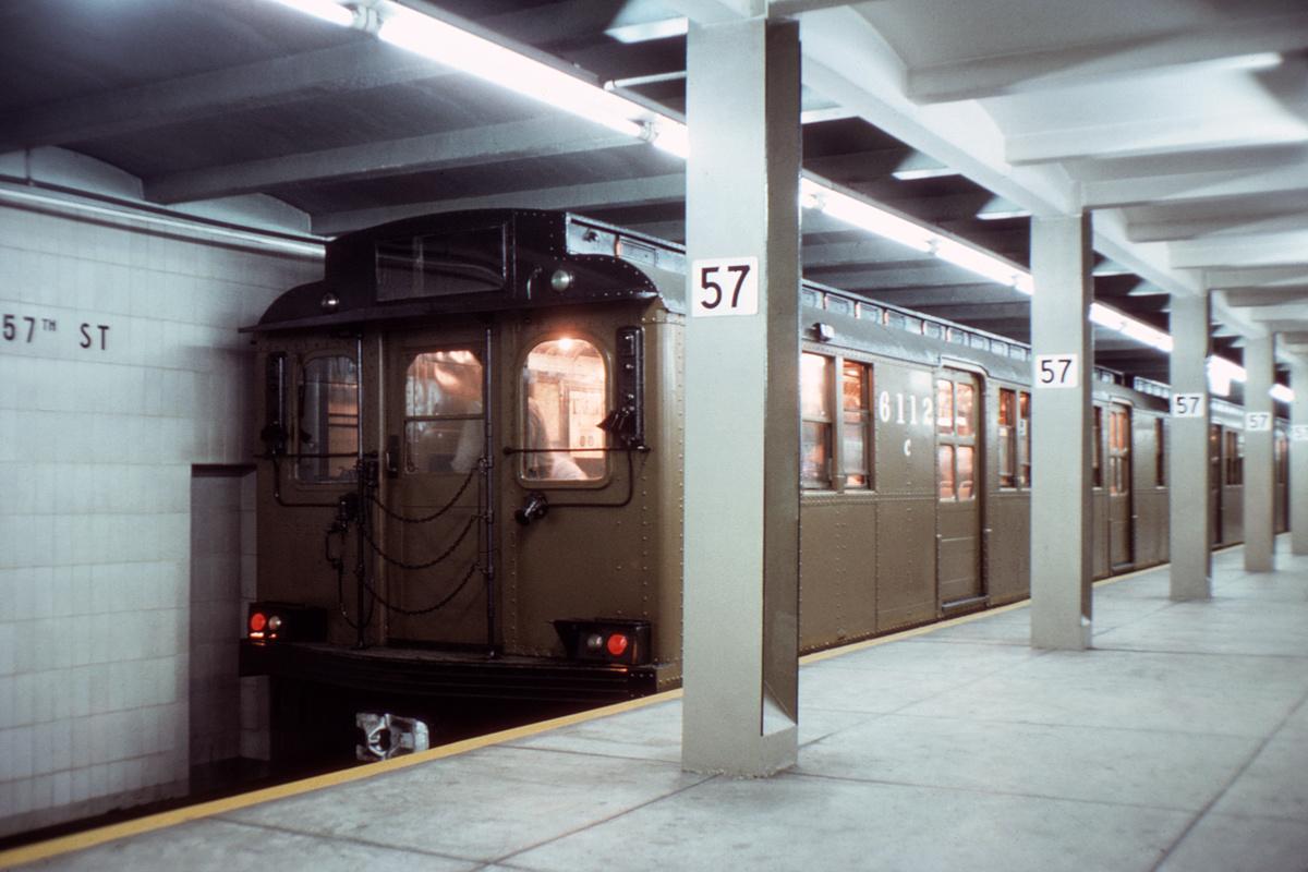(286k, 1024x683)<br><b>Country:</b> United States<br><b>City:</b> New York<br><b>System:</b> New York City Transit<br><b>Line:</b> IND 6th Avenue Line<br><b>Location:</b> 57th Street <br><b>Car:</b> BMT D-Type Triplex 6112 <br><b>Collection of:</b> David Pirmann<br><b>Viewed (this week/total):</b> 0 / 3373