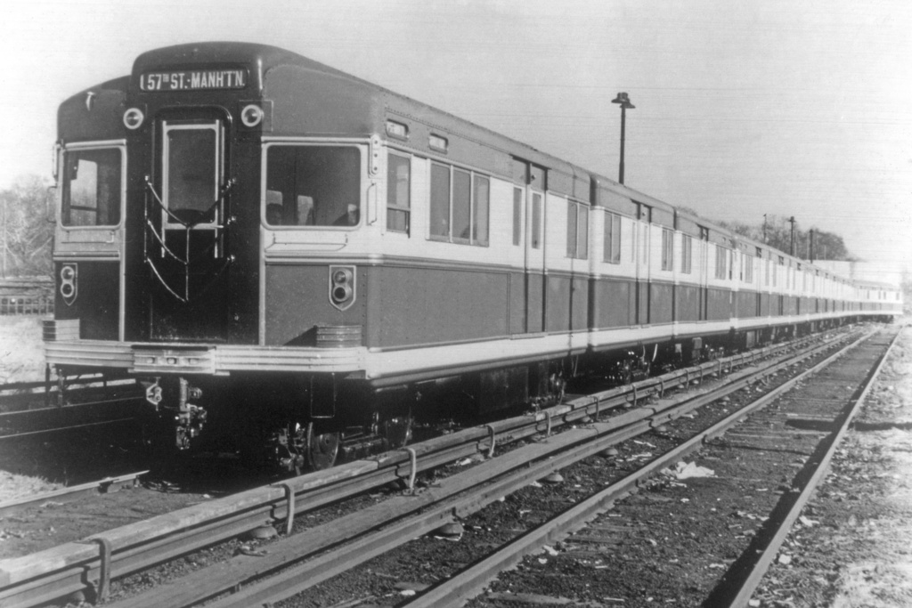 (230k, 1024x683)<br><b>Country:</b> United States<br><b>City:</b> New York<br><b>System:</b> New York City Transit<br><b>Location:</b> 36th Street Yard<br><b>Car:</b> BMT Bluebird  <br><b>Collection of:</b> David Pirmann<br><b>Date:</b> 1940<br><b>Viewed (this week/total):</b> 2 / 6477