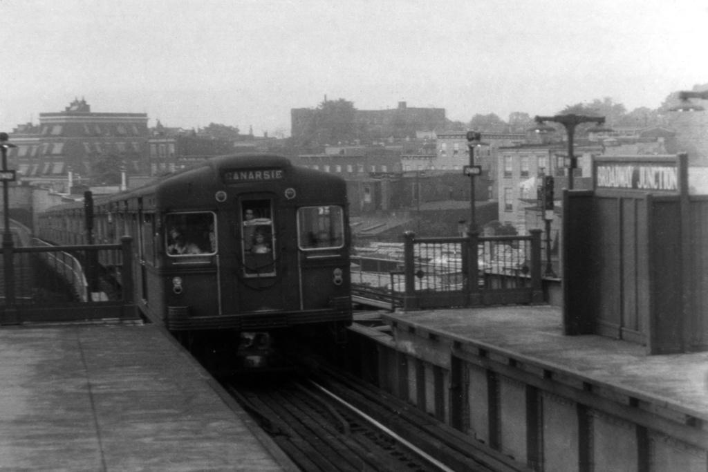 (181k, 1024x683)<br><b>Country:</b> United States<br><b>City:</b> New York<br><b>System:</b> New York City Transit<br><b>Line:</b> BMT Canarsie Line<br><b>Location:</b> Broadway Junction <br><b>Car:</b> BMT Bluebird  <br><b>Collection of:</b> David Pirmann<br><b>Viewed (this week/total):</b> 0 / 3879