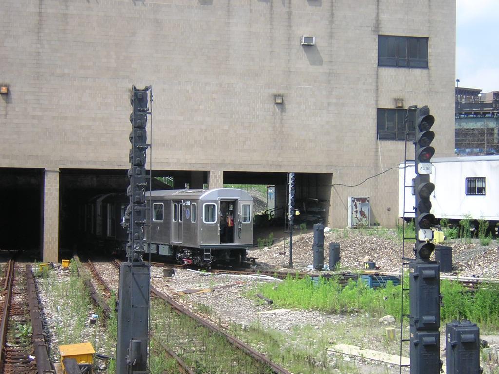 (163k, 1024x768)<br><b>Country:</b> United States<br><b>City:</b> New York<br><b>System:</b> New York City Transit<br><b>Location:</b> 207th Street Yard<br><b>Car:</b> R-142 (Option Order, Bombardier, 2002-2003)  1213 <br><b>Photo by:</b> Glenn L. Rowe<br><b>Date:</b> 8/12/2003<br><b>Viewed (this week/total):</b> 0 / 7490
