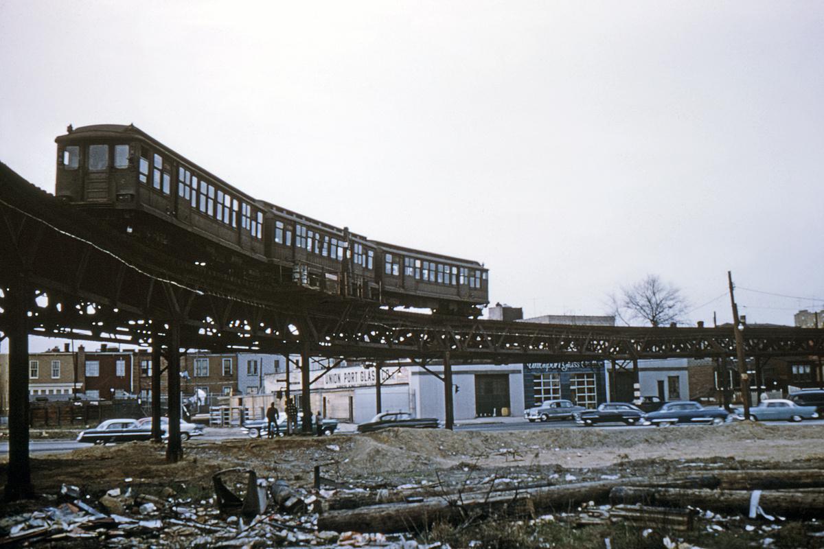 (330k, 1024x682)<br><b>Country:</b> United States<br><b>City:</b> New York<br><b>System:</b> New York City Transit<br><b>Line:</b> BMT Fulton<br><b>Location:</b> Liberty & Euclid <br><b>Car:</b> BMT C  <br><b>Collection of:</b> David Pirmann<br><b>Date:</b> 4/21/1956<br><b>Viewed (this week/total):</b> 4 / 6637