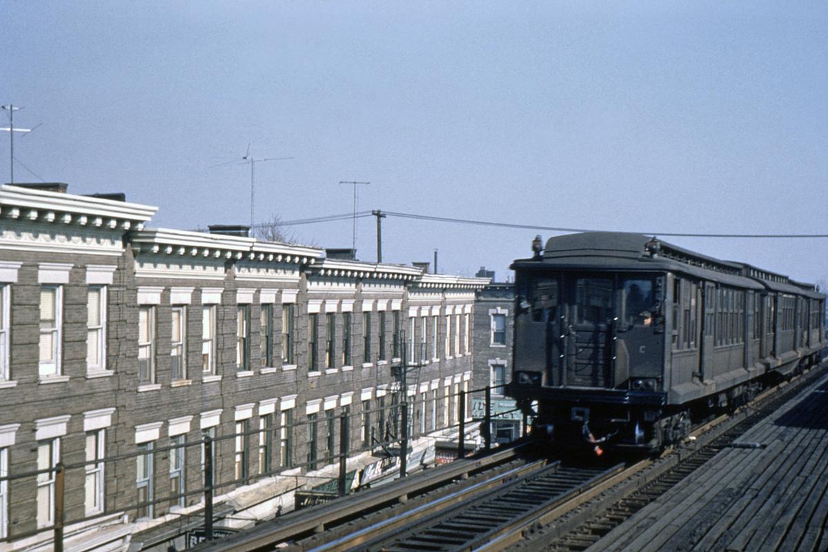 (355k, 1024x682)<br><b>Country:</b> United States<br><b>City:</b> New York<br><b>System:</b> New York City Transit<br><b>Line:</b> BMT Fulton<br><b>Location:</b> Grant Avenue <br><b>Car:</b> BMT C  <br><b>Collection of:</b> David Pirmann<br><b>Date:</b> 10/26/1951<br><b>Viewed (this week/total):</b> 1 / 5054