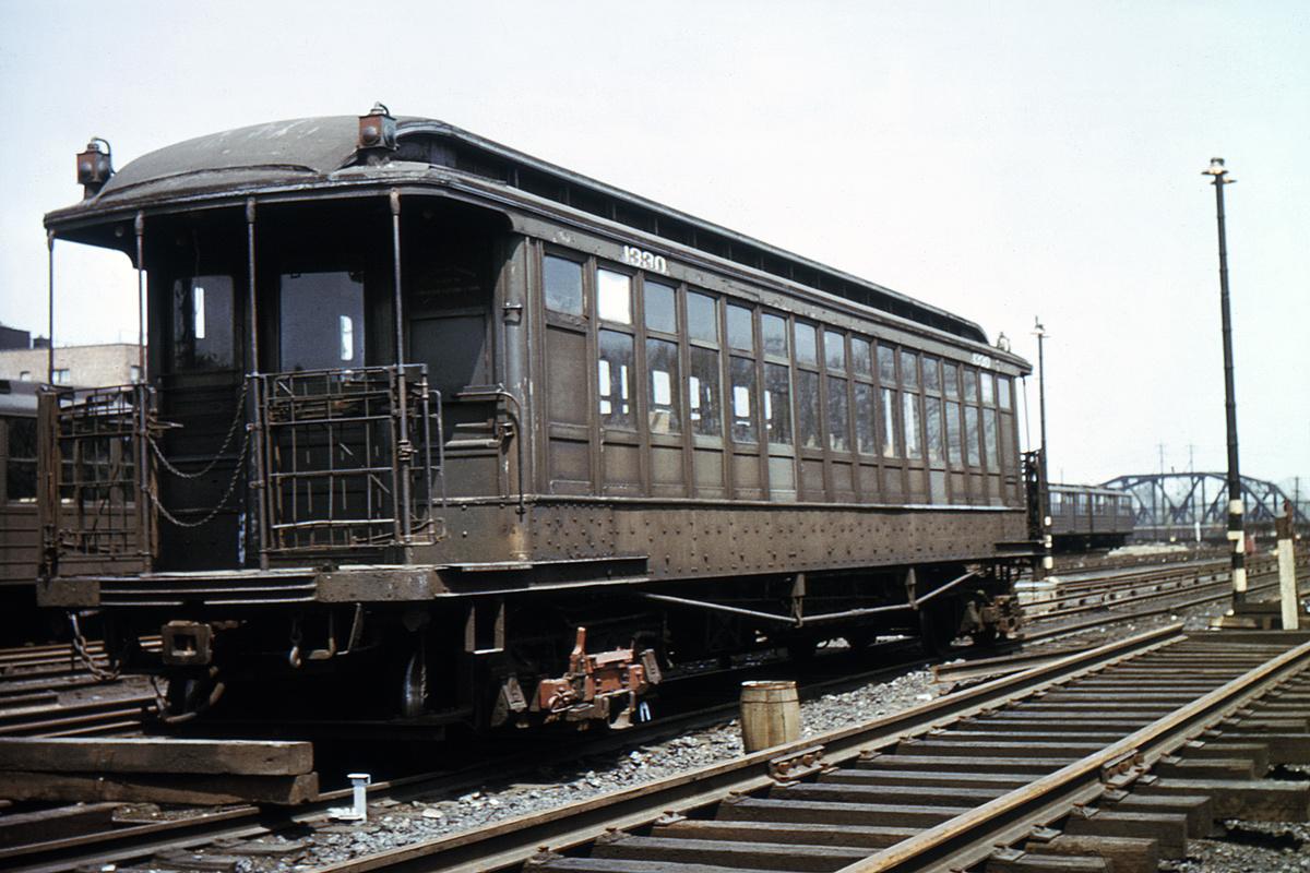 (339k, 1024x683)<br><b>Country:</b> United States<br><b>City:</b> New York<br><b>System:</b> New York City Transit<br><b>Location:</b> Fresh Pond Yard<br><b>Car:</b> BMT Elevated Gate Car 1330 <br><b>Collection of:</b> David Pirmann<br><b>Viewed (this week/total):</b> 0 / 2680