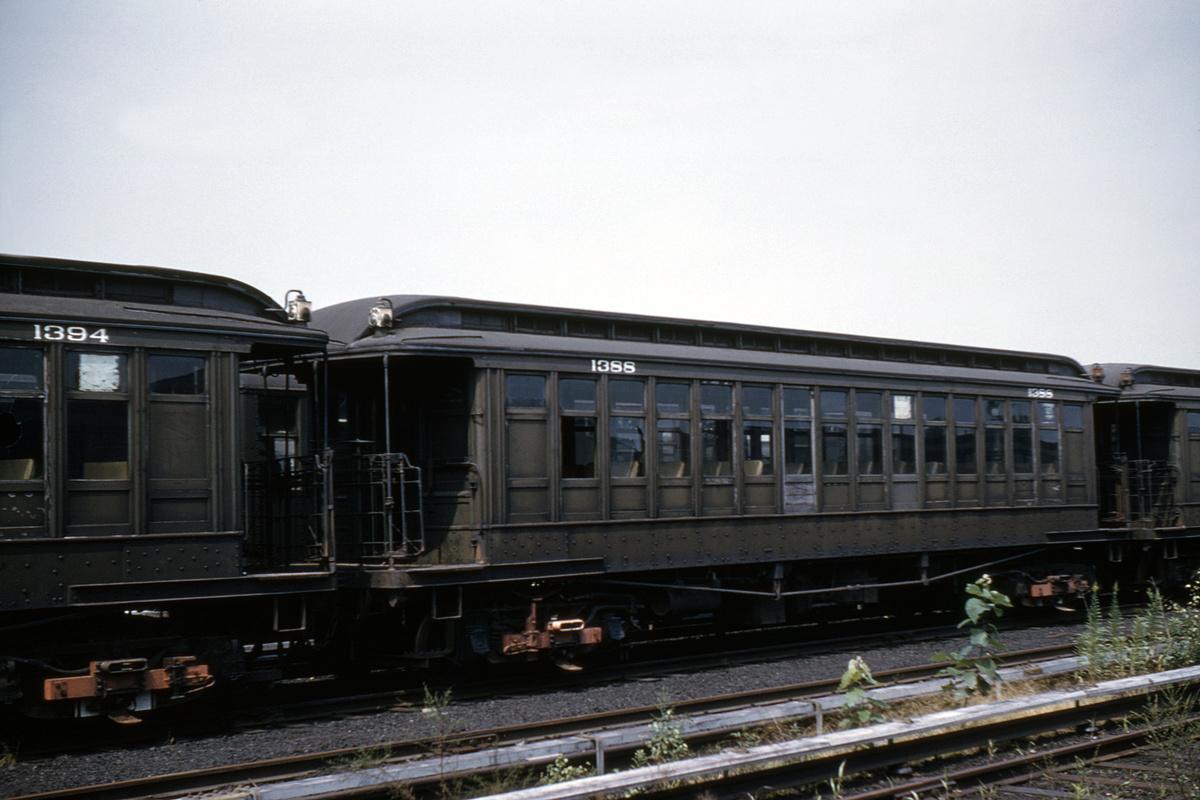 (368k, 1024x683)<br><b>Country:</b> United States<br><b>City:</b> New York<br><b>System:</b> New York City Transit<br><b>Location:</b> Fresh Pond Yard<br><b>Car:</b> BMT Elevated Gate Car 1388 <br><b>Collection of:</b> David Pirmann<br><b>Date:</b> 8/20/1960<br><b>Viewed (this week/total):</b> 1 / 2240